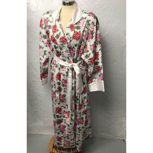 Vintage Victoria's Secret Long Floral Robe NWT